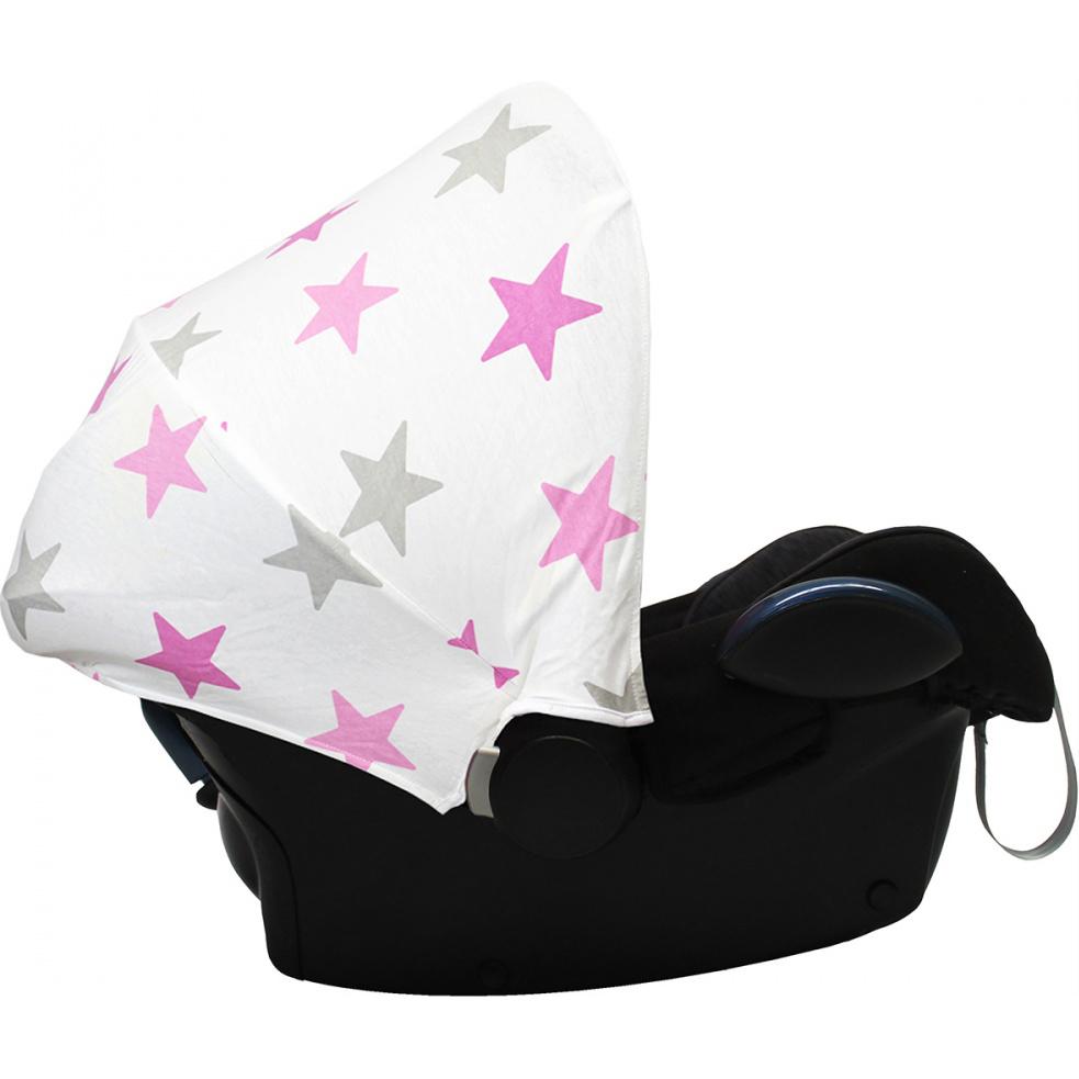 Капюшон для автокресла Dooky Hoodie Pink Stars подушка для переноски автокресла dooky arm cushion grey stars