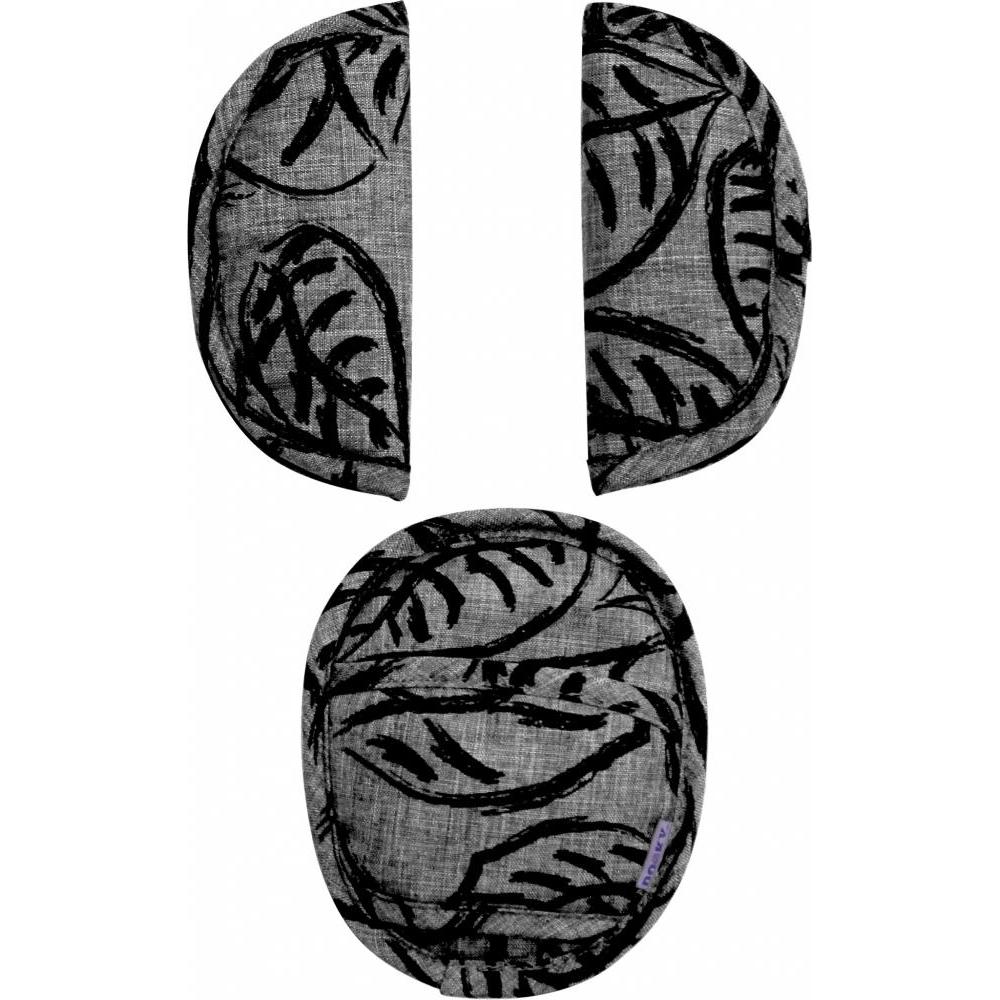 Накладки на ремни безопасности Dooky Universal Pads Grey Leaves подушка для переноски автокресла dooky arm cushion grey stars