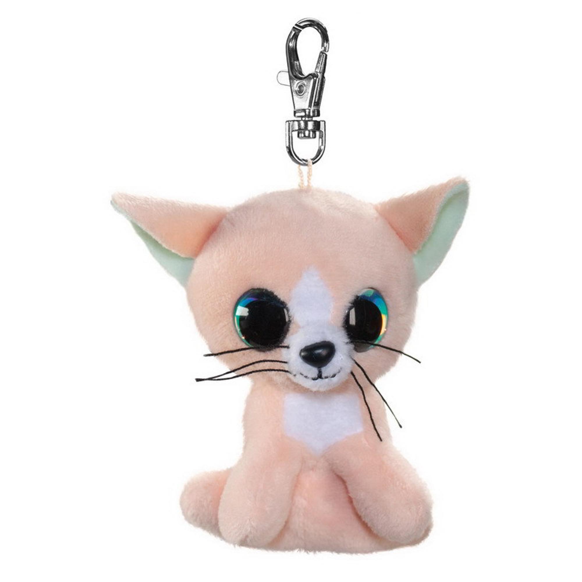 Купить Брелок LUMO Котёнок Peach 8.5 см, брелок, Китай, пластик, иск.мех, текстиль