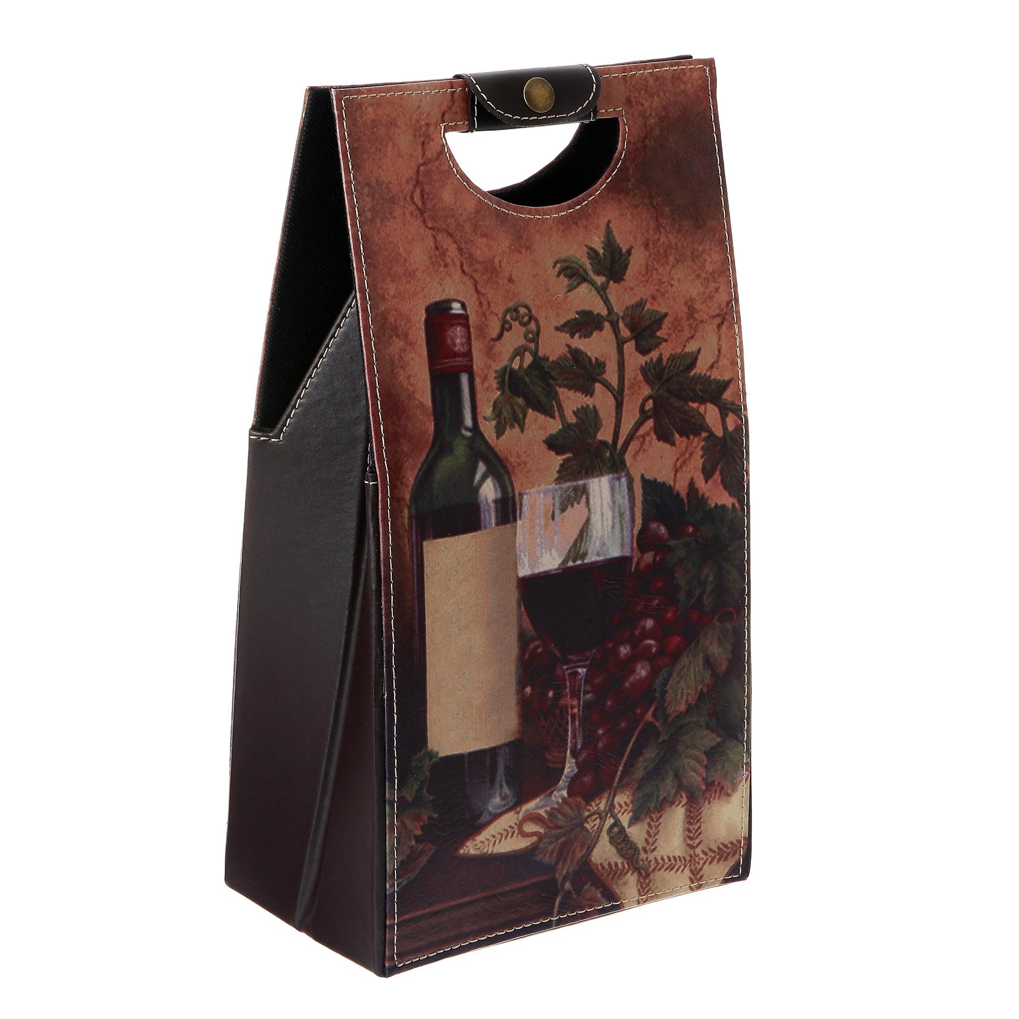 Пакет винный подарочный двойной 20х11х40 Huaye arts&crafts фото