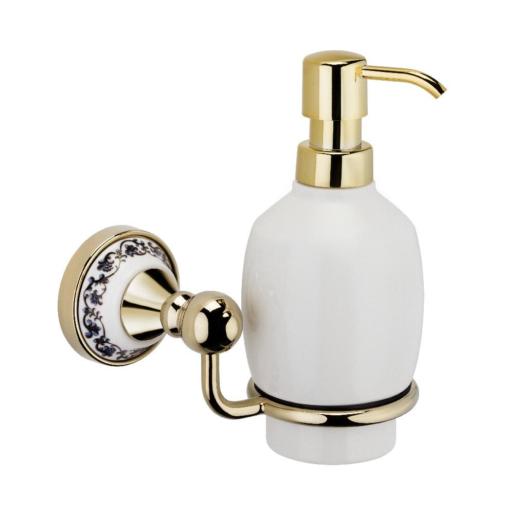 Купить Дозатор для жидкого мыла Fixsen Gold Bogema FX-78512G, дозатор, Китай, золотистый, латунь, метсплав, керамика