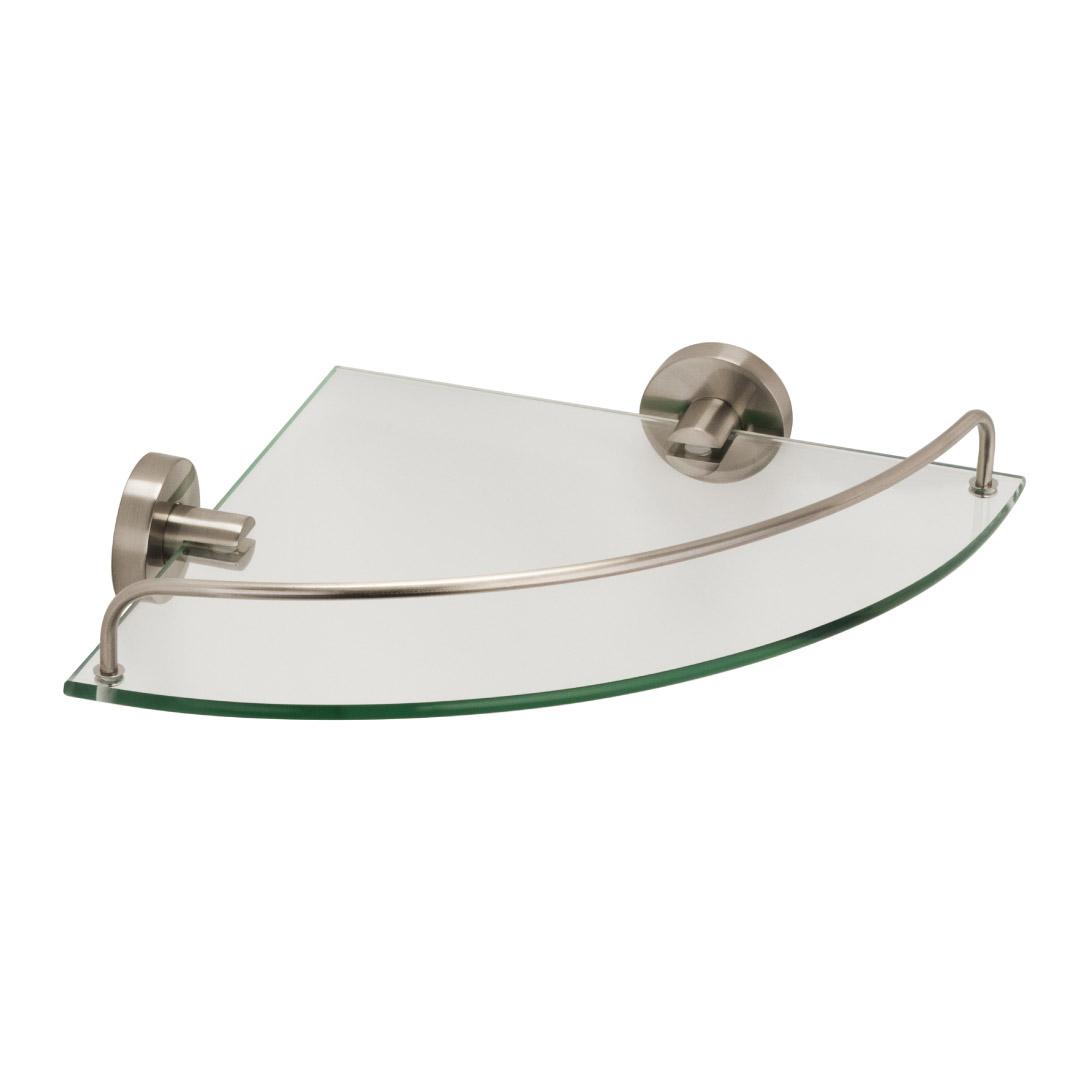 Купить Полка стеклянная угловая Fixsen Modern FX-51503A, полка, Китай, сатин, латунь, метсплав, пластик, стекло