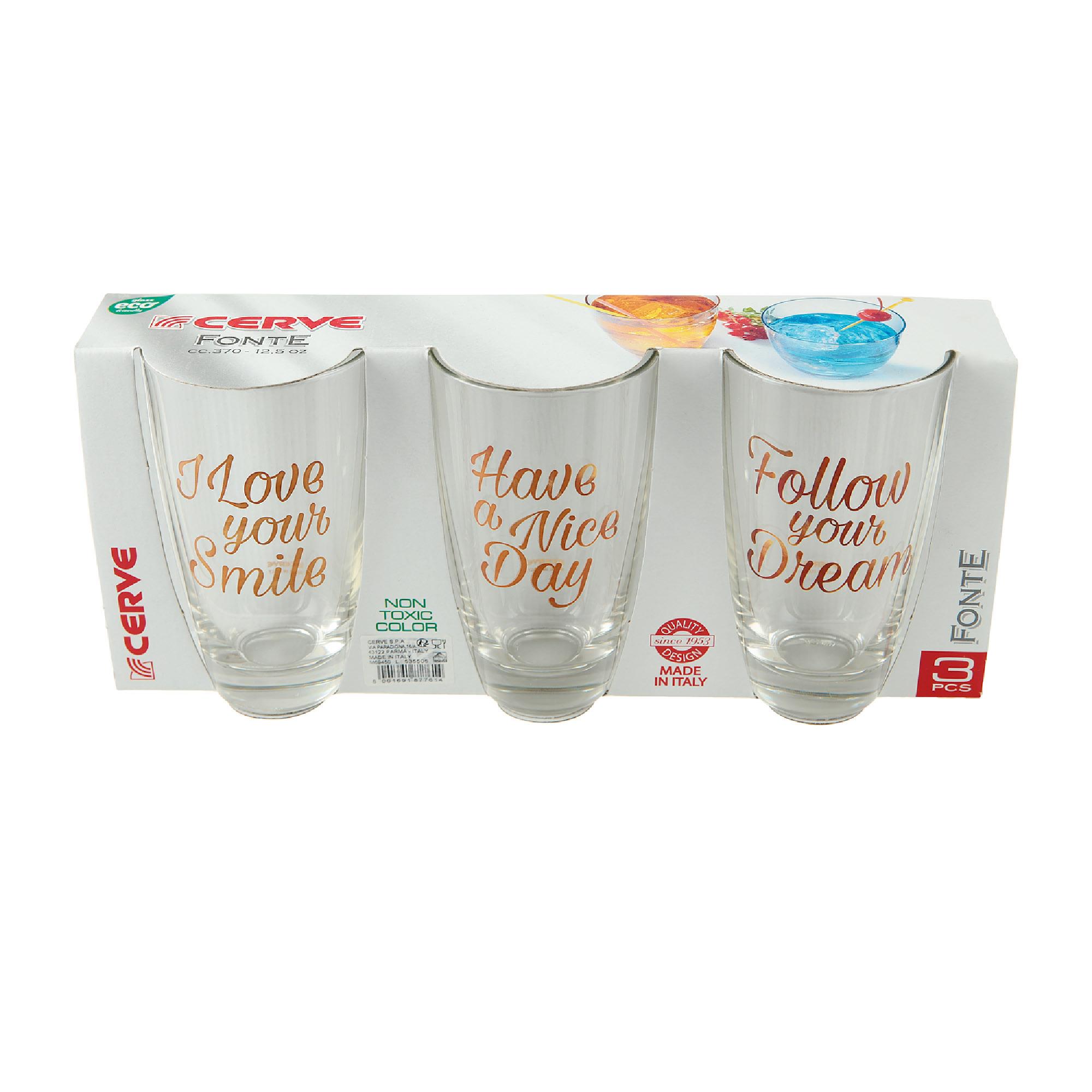 Набор высоких стаканов для воды 3х370мл Cerve fonte фото