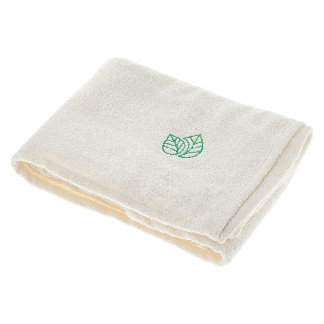 Простыня для бани и сауны Доктор Баня с вышивкой 150 х 100 см