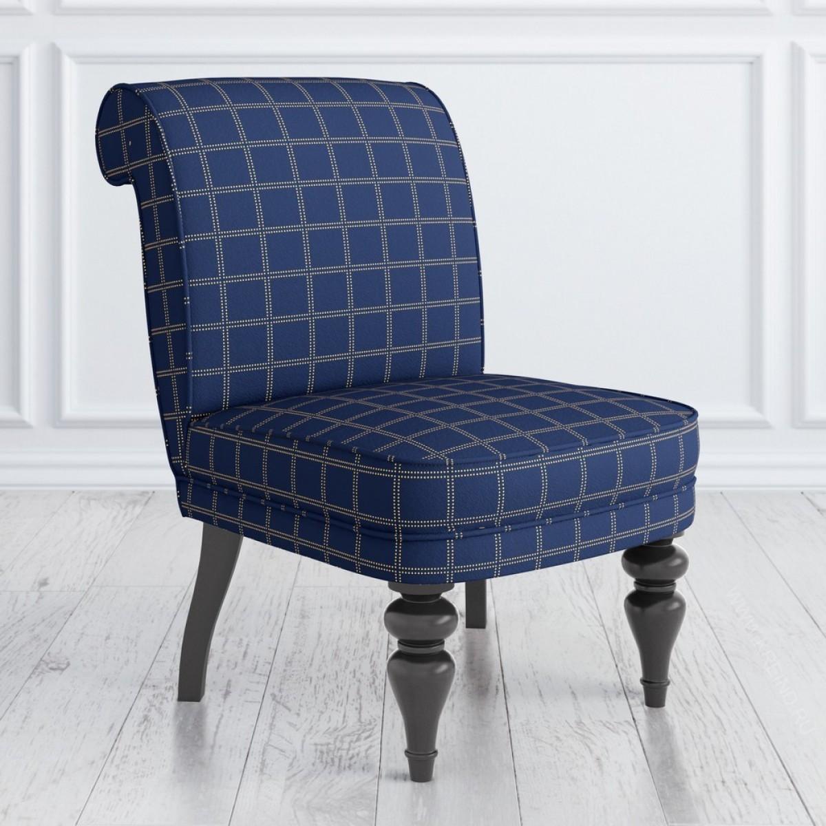 Кресло Kreind синяя клетка 55x72x83 см мебель для домашнего кабинета