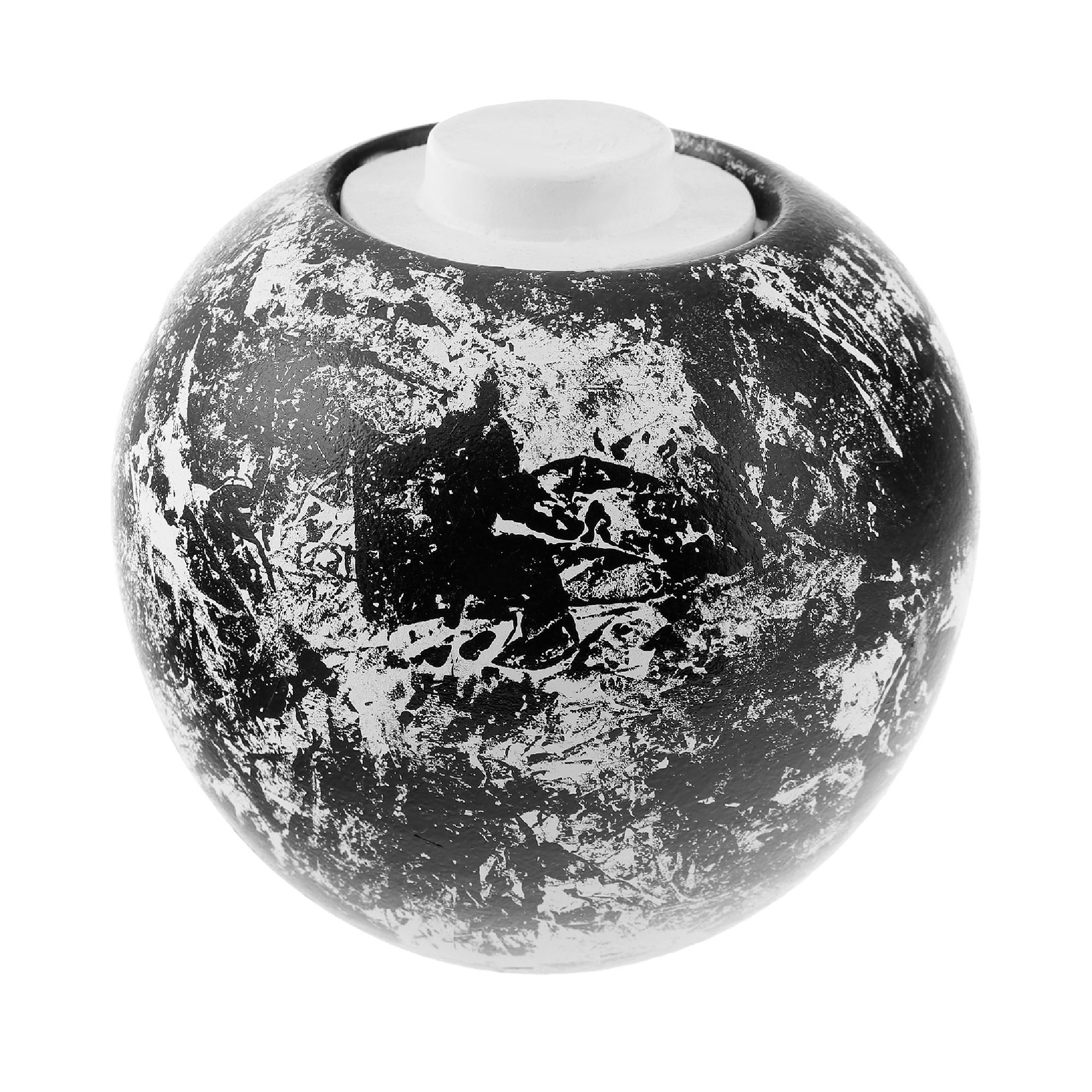Ваза Santos Pote white/black opaque 25cm фото