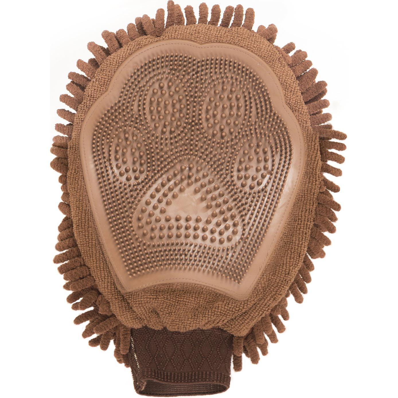 Перчатка для груминга Dog Gone Smart Grooming Mitt коричневая 25х18 см