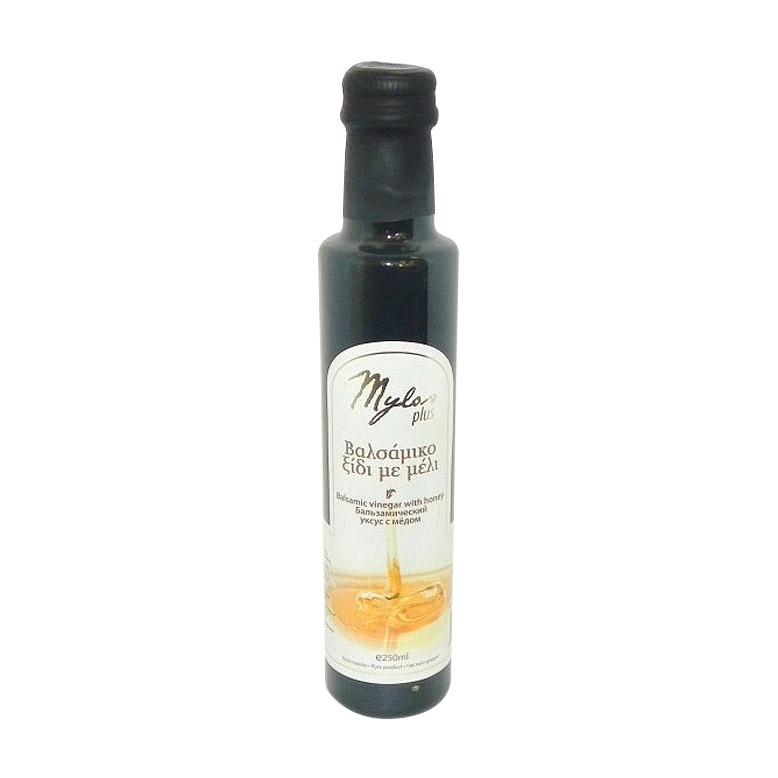 Уксус бальзамический Mylos Plus с медом 250 мл бальзамический крем papadimitriou с апельсином и лимоном 250 мл