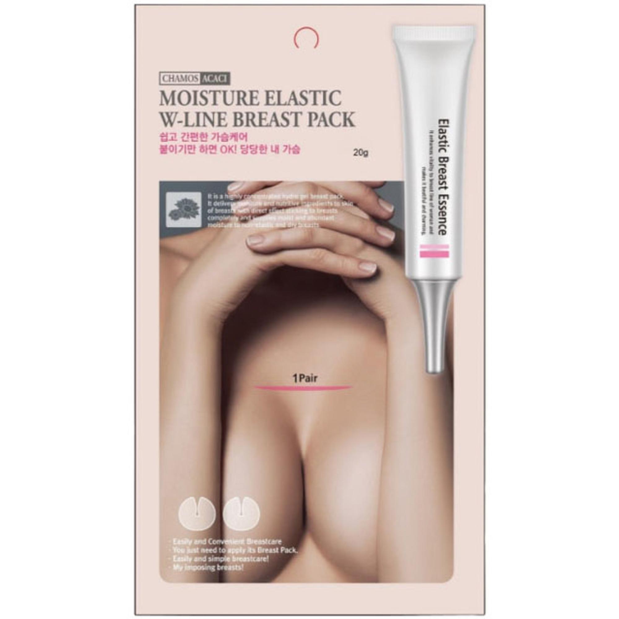 Патчи для бюста Chamos Acaci Moisture Elastic W-Line Breast Pack 20 г
