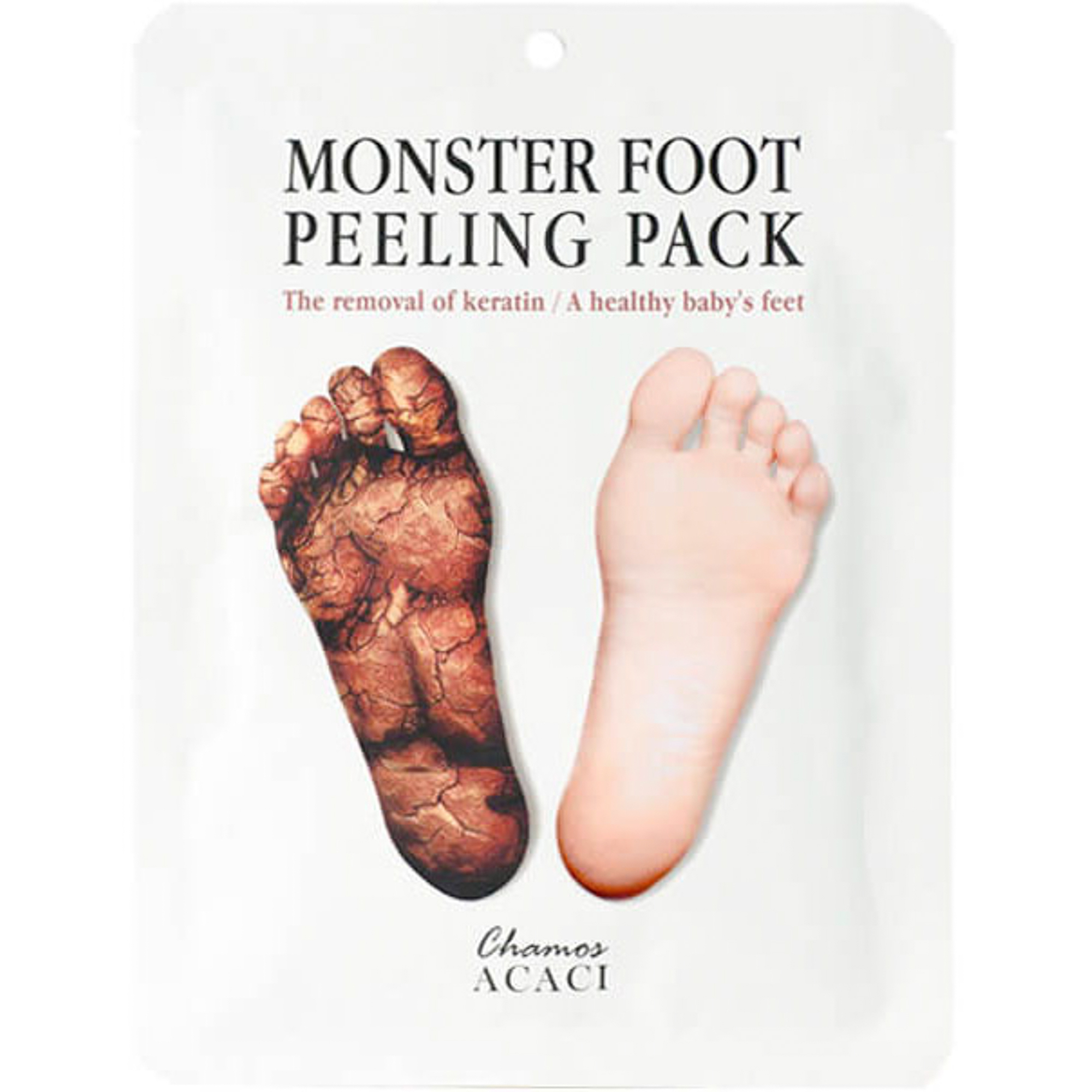 Носочки для пилинга Chamos Acaci Monster Foot Peeling Pack 6,5 мл