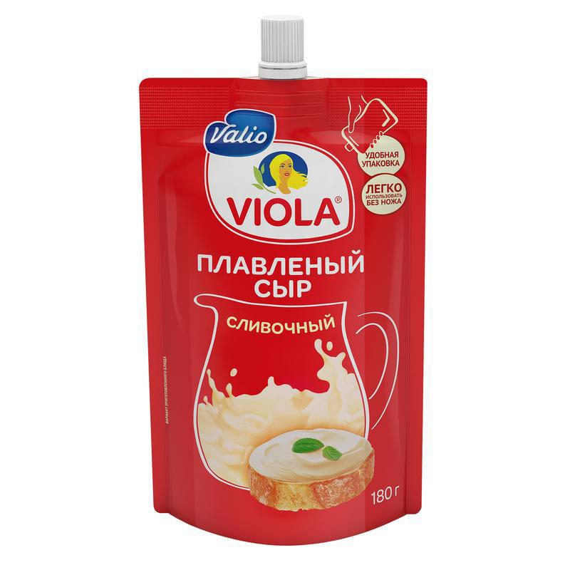 Сыр Valio Viola плавленый Сливочный 45% 180 г недорого