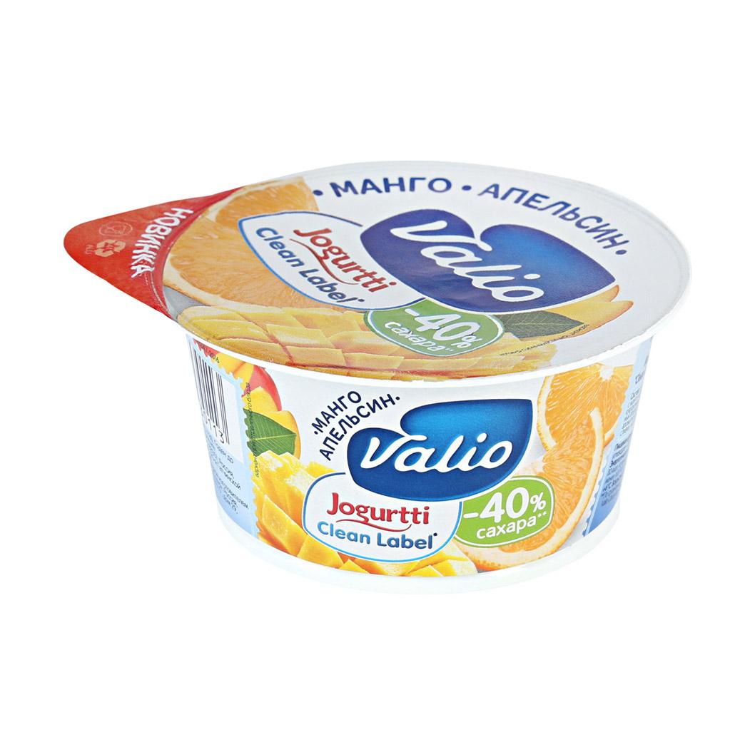 Фото - Йогурт Valio Clean Label манго, апельсин 2,9% 120 г йогурт valio clean label малибу