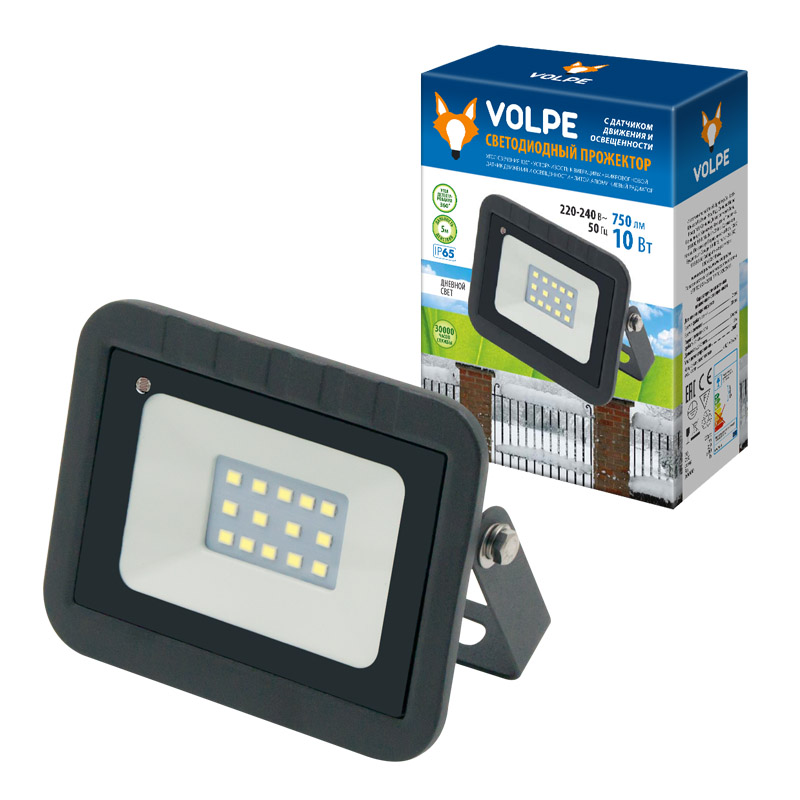 Купить Уличный светодиодный прожектор Uniel Volpe ULF-Q512 10W/DW Sensor, Китай