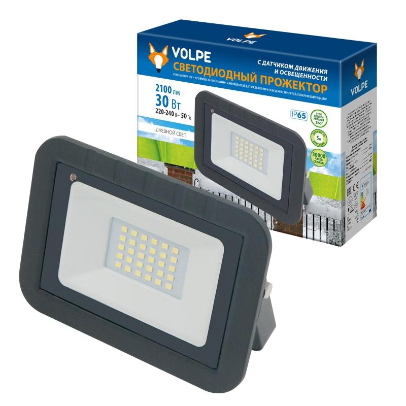 Купить Уличный светодиодный прожектор Uniel Volpe ULF-Q512 30W/DW SENSOR, Китай