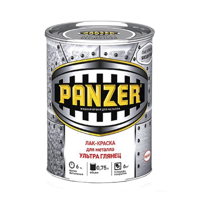 Краска Panzer для металла гладкая глянцевая 0,75 л недорого