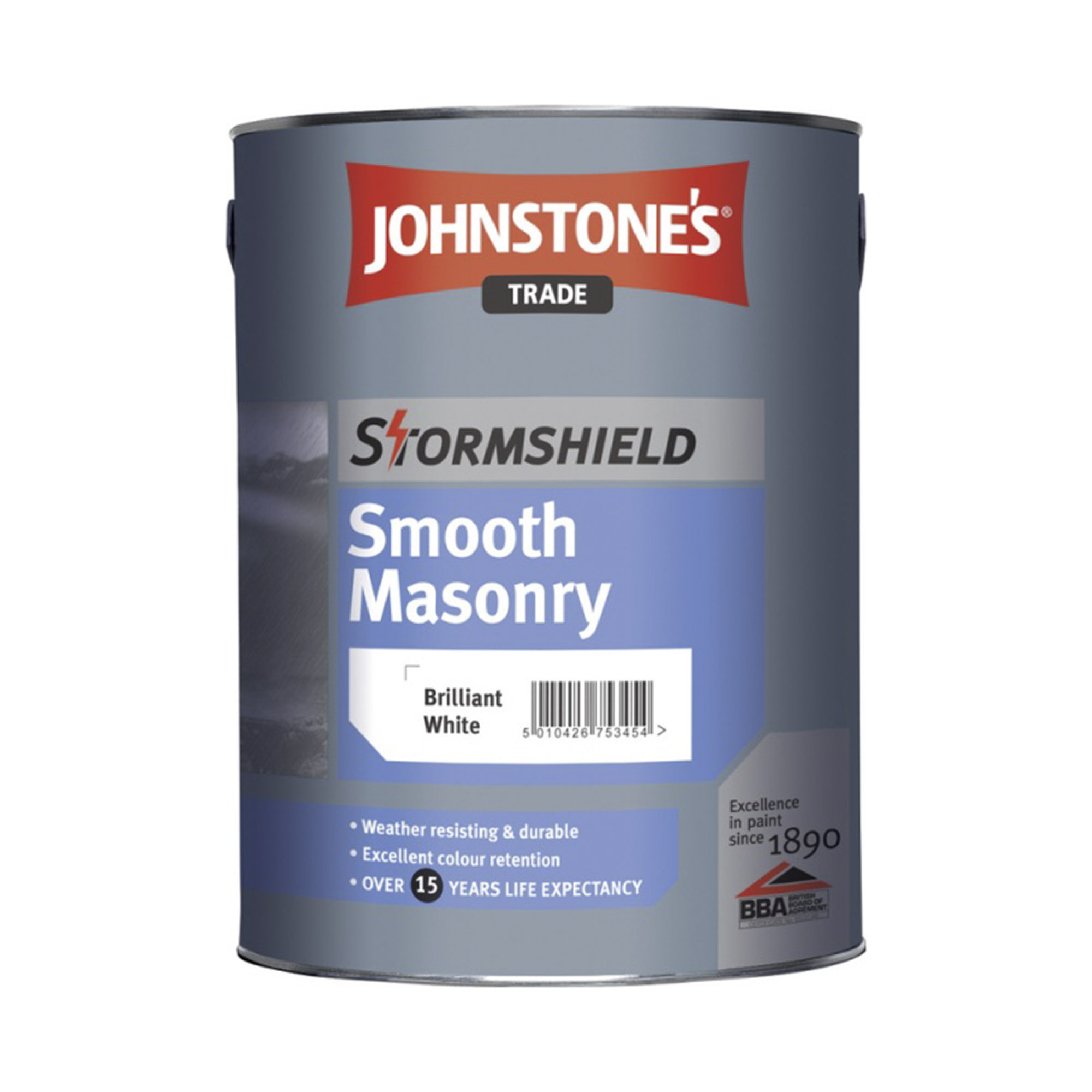 Краска JohnStones Stormshield Smooth Masonry Ultra Deep фасадная 5 л фото