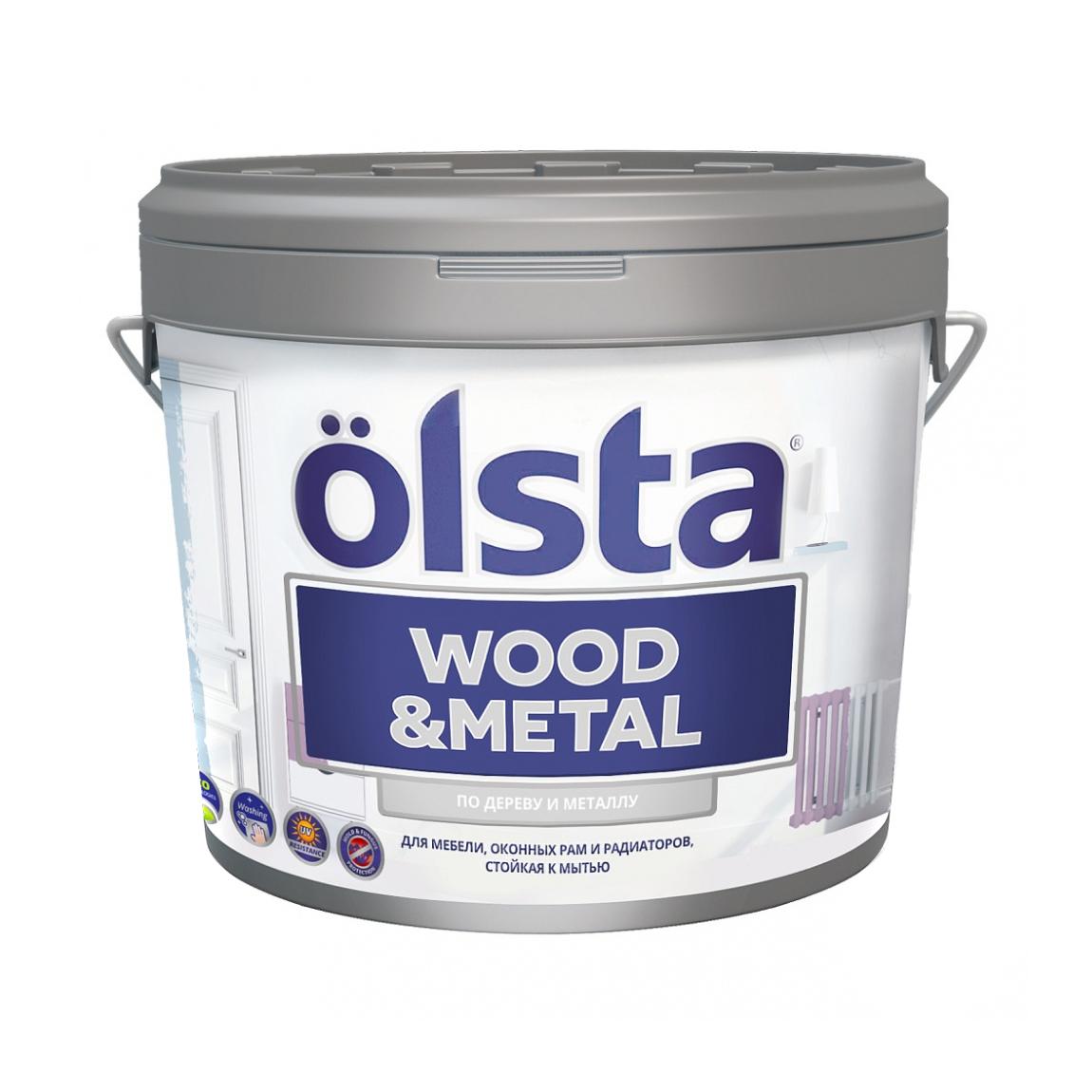 Краска Olsta Wood&Metal База С 9 л фото