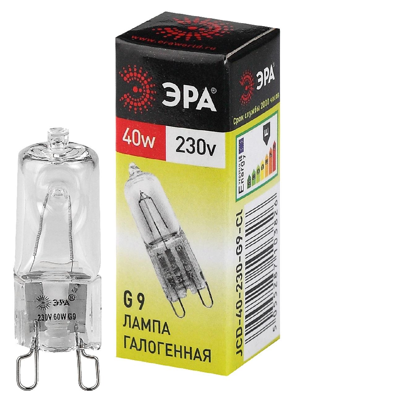 Фото - Лампа галогенная ЭРА G9-JCD-40-230V-Cl лампа галогенная эра gu5 3 jcdr mr16 35w 230v cl