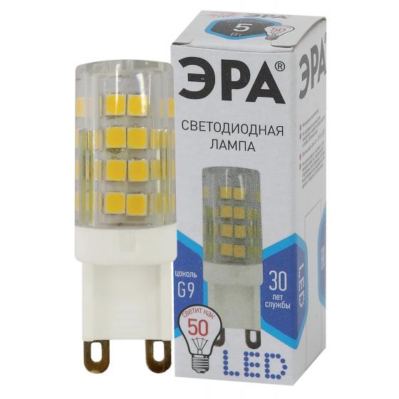 Лампа LED JCD-5W-CER-840-G9 ЭРА (кукуруза кер., капсюль, 5Вт, 220В, нейтральный, G9)