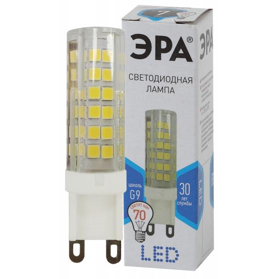 Лампа LED JCD-7W-CER-840-G9 ЭРА (кукуруза кер., капсюль, 7Вт, 220В, нейтральный, G9)