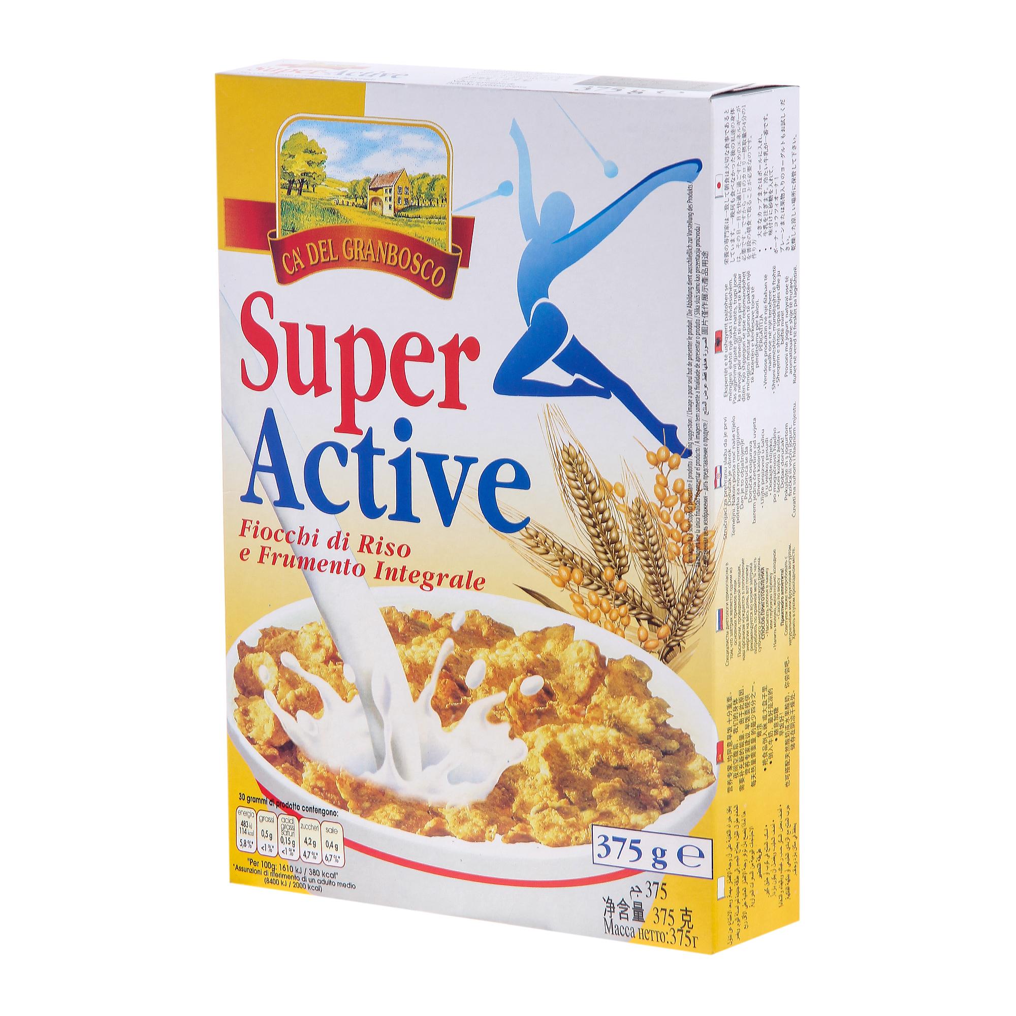 Хлопья мультизлаковые Super Active 375 г magruss multi active day super