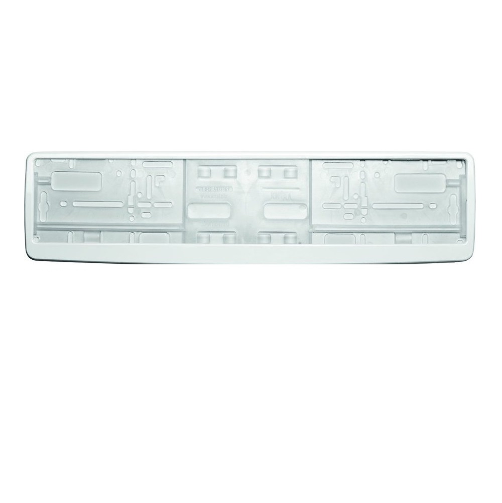 Рамка для номера Концерн знак белая в упаковке