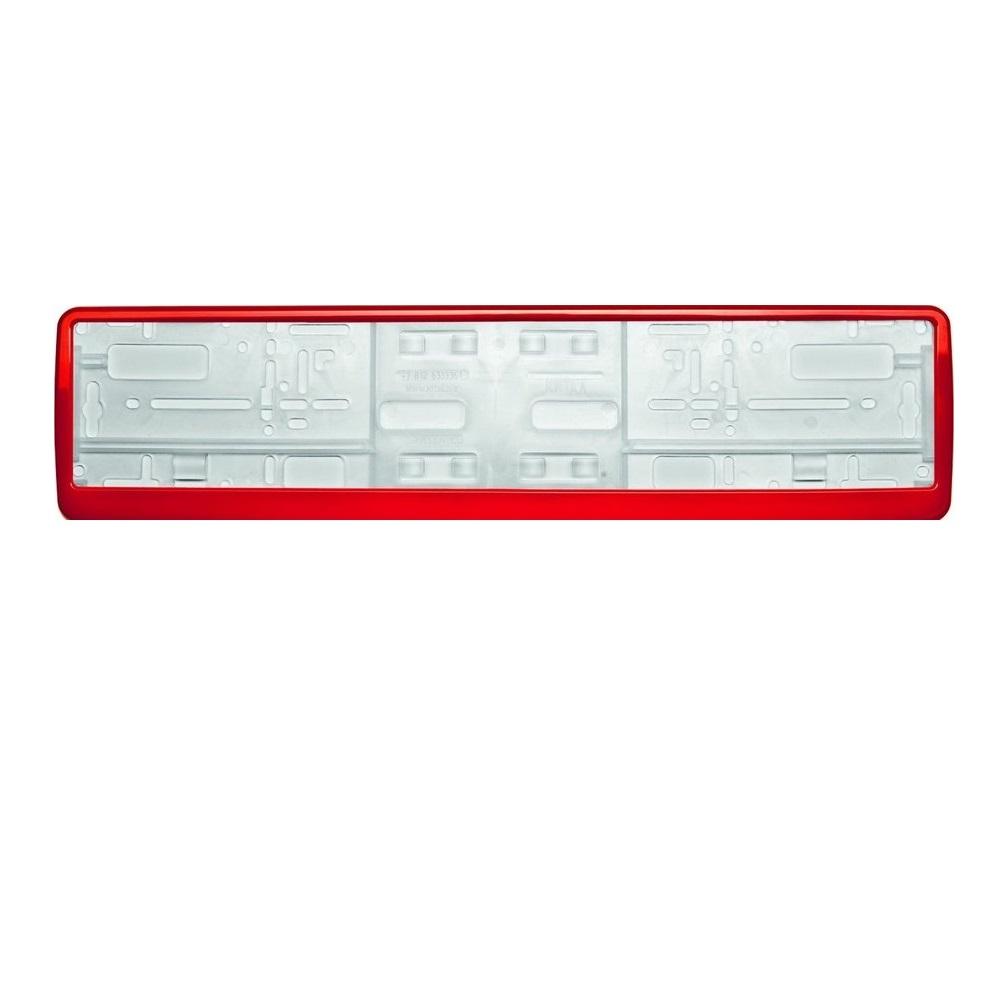 Рамка для номера Концерн знак красная в упаковке