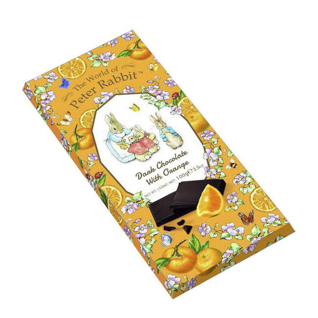 Шоколад The World of Peter Rabbit Dark Chocolate with Orange Bunny 100 г