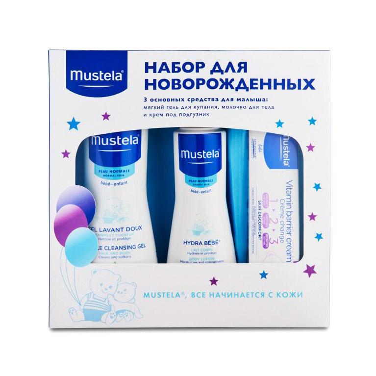 Набор подарочный Mustela Bebe для новорожденных mustela цена в россии