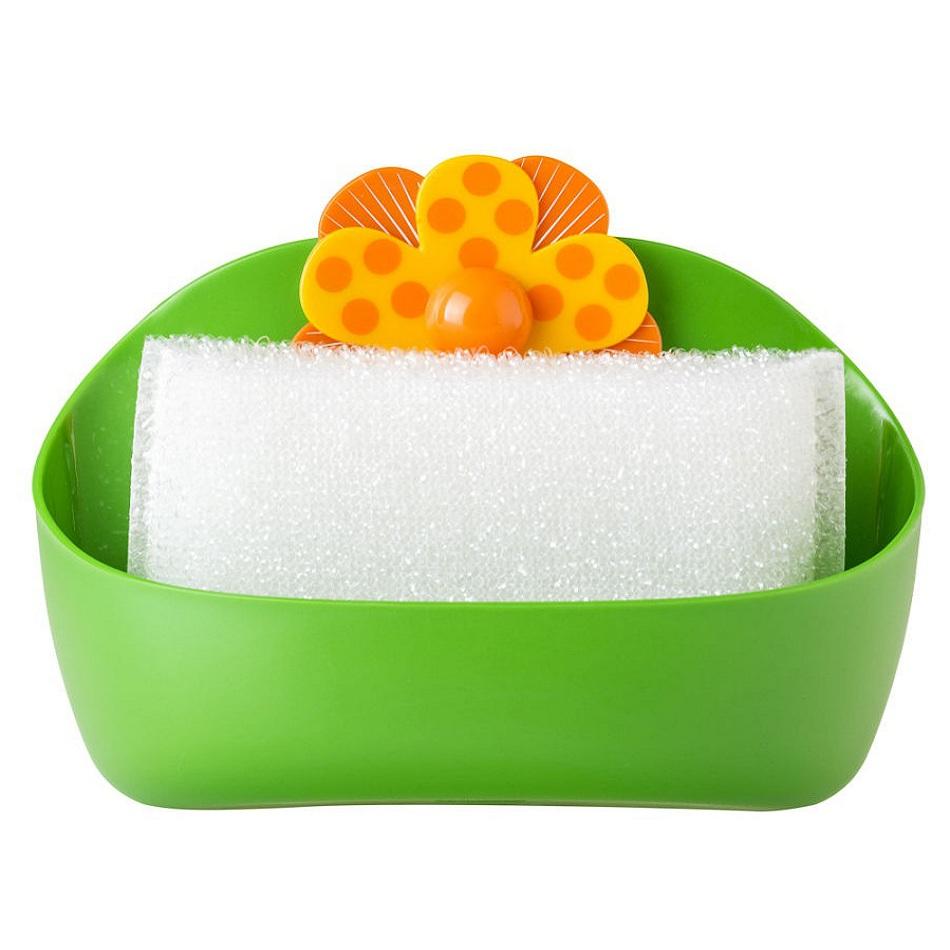 Губка для посуды с подставкой Vigar Lolaflor 7838 дозатор щетка для посуды губка на подставке lolaflor quelle vigar 1011713