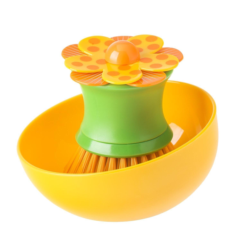 Щетка для посуды с подставкой Vigar Lolaflor 7847 дозатор щетка для посуды губка на подставке lolaflor quelle vigar 1011713