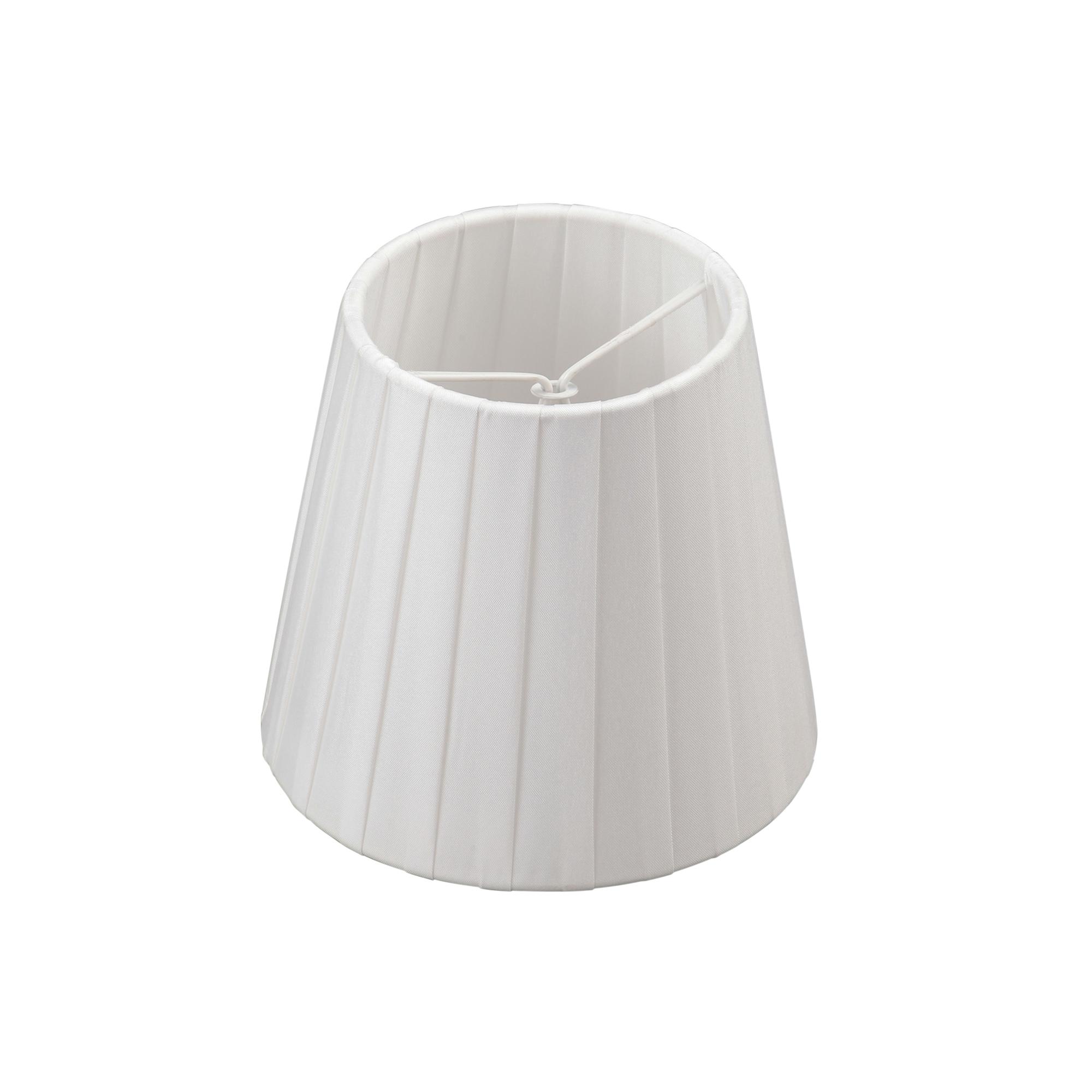 Абажур белый, е14, h=110mm, d120xd90 mm, прищепка Vitaluce