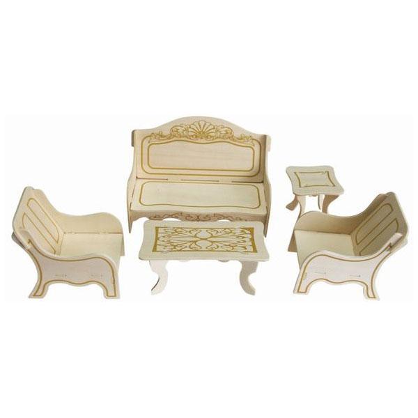 Игровой набор Мебель для кукол Wooden Toys отдыха