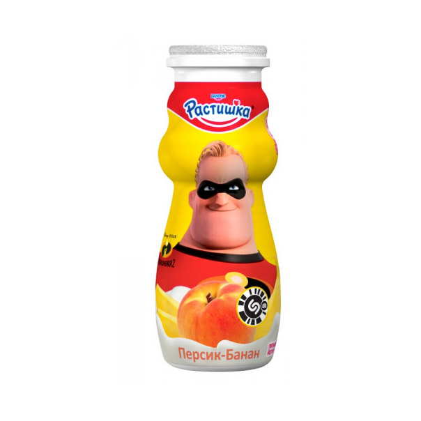 Йогурт Растишка Персик, банан 1,6% 90 г недорого