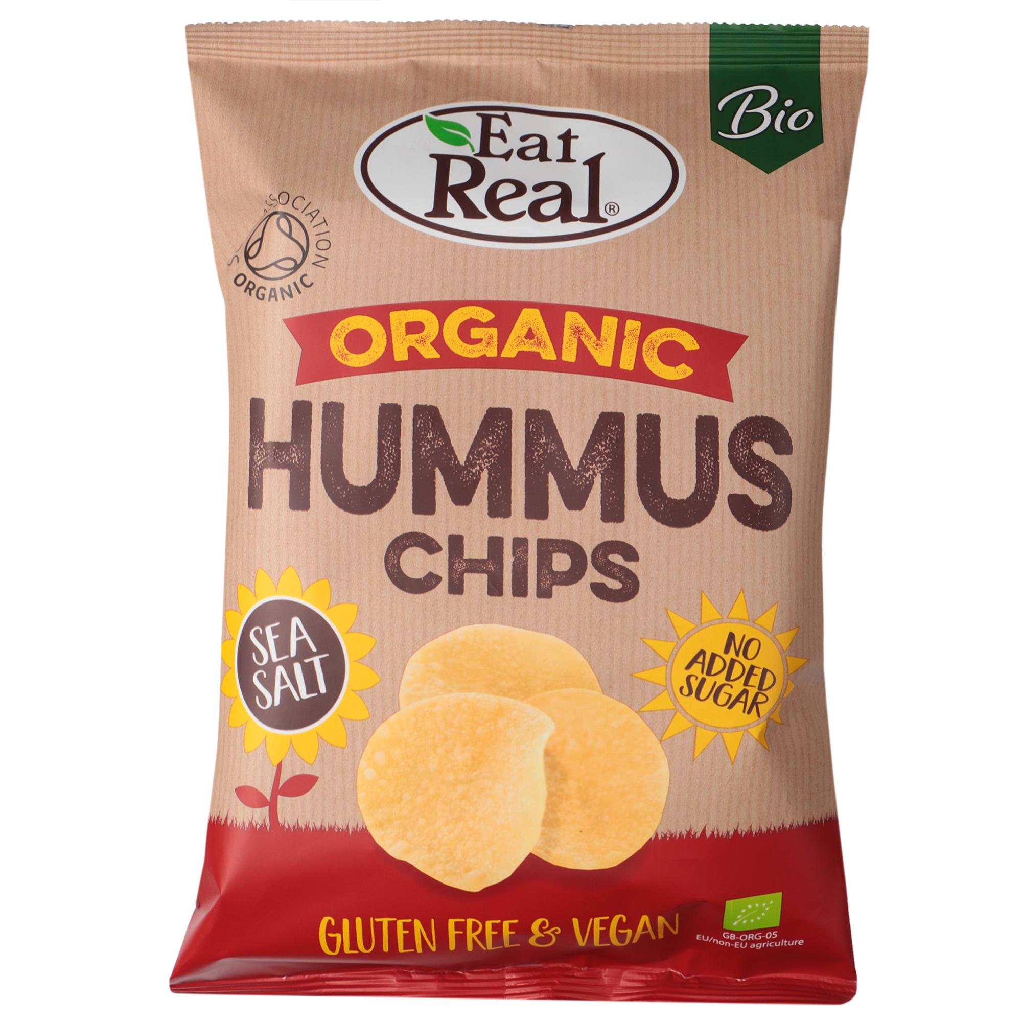 Чипсы органические Eat Real c хумусом 100 г