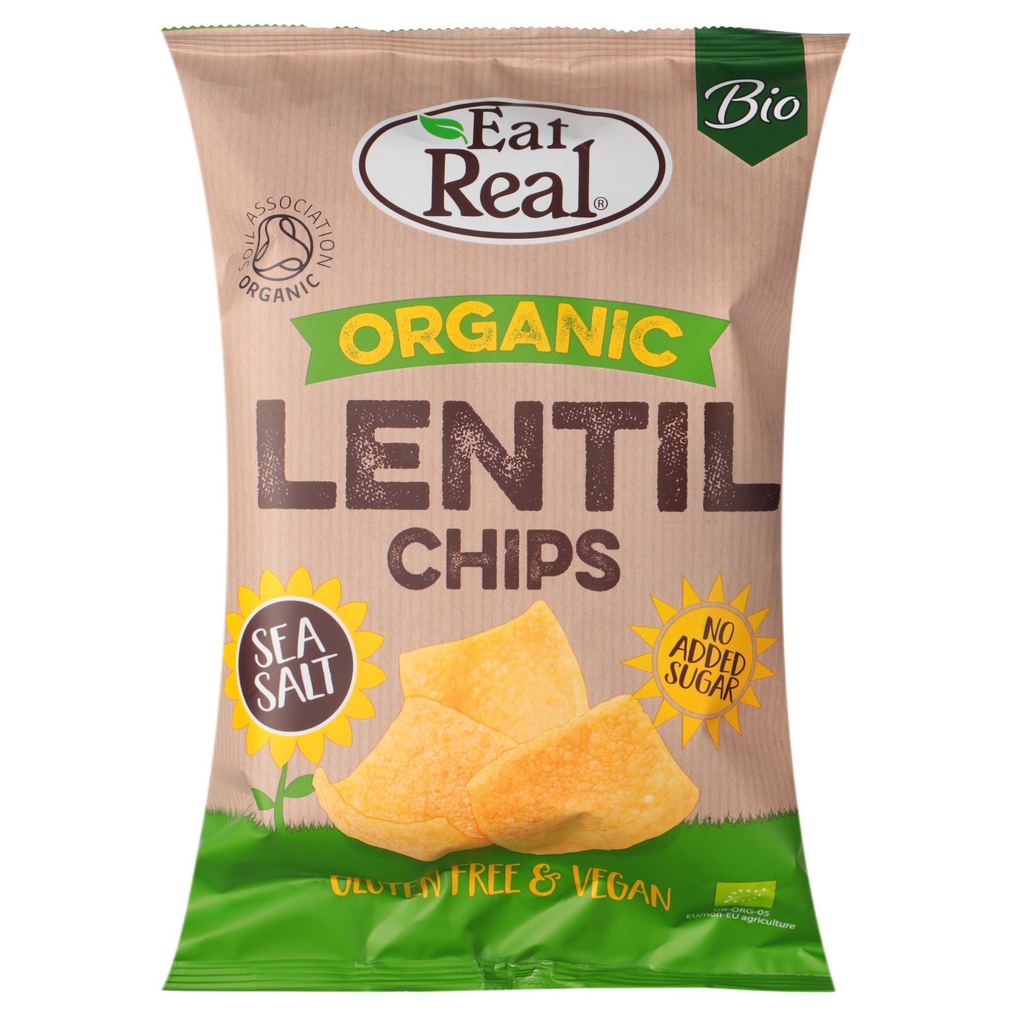 Чипсы органические Eat Real c чечевицей 100 г