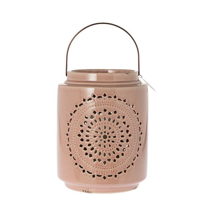 Фото - Фонарь-подсвечник nancy розовый 27см Riverdale фонарь подсвечник riverdale marlow темно синий 18х18х25см
