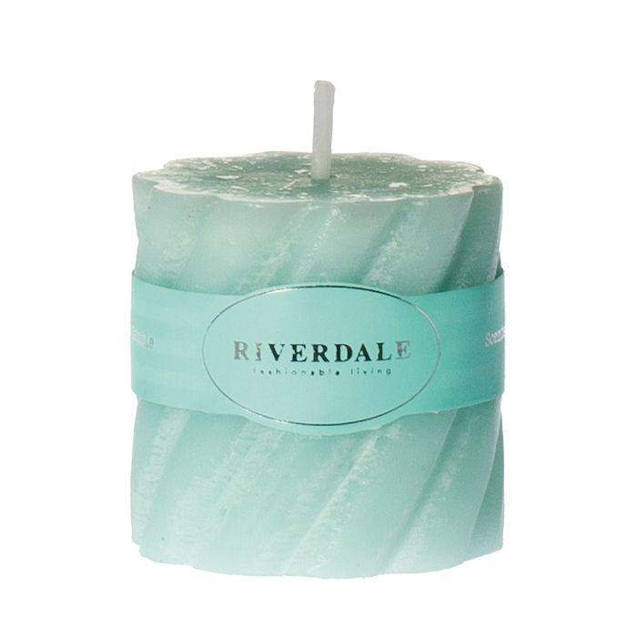 Свеча swirl цв мор волны 5х5см Riverdale