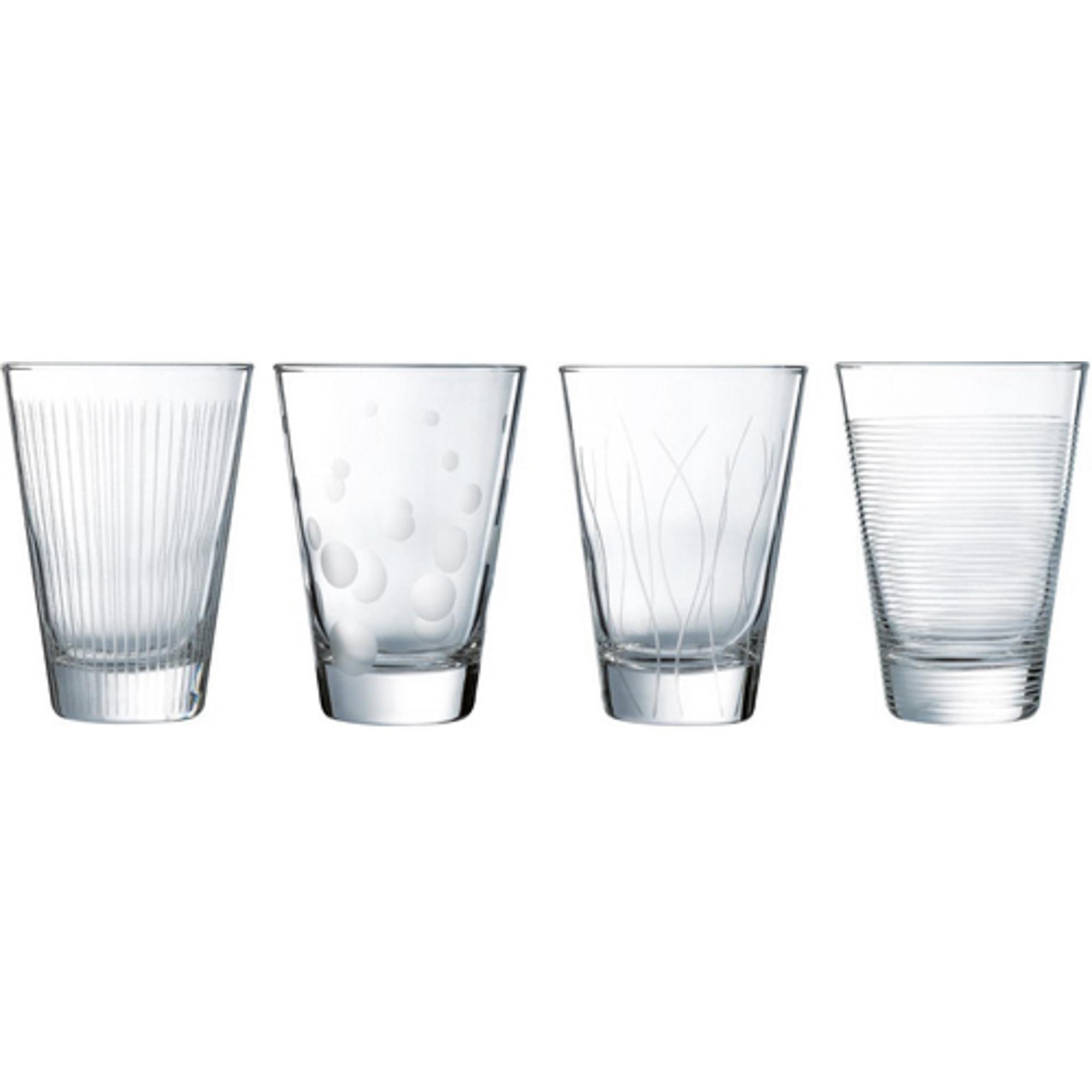 Набор стаканов лаунж клаб 300мл 4шт Luminarc набор стаканов luminarc иллюминейшн колорс 380мл 4шт l7604