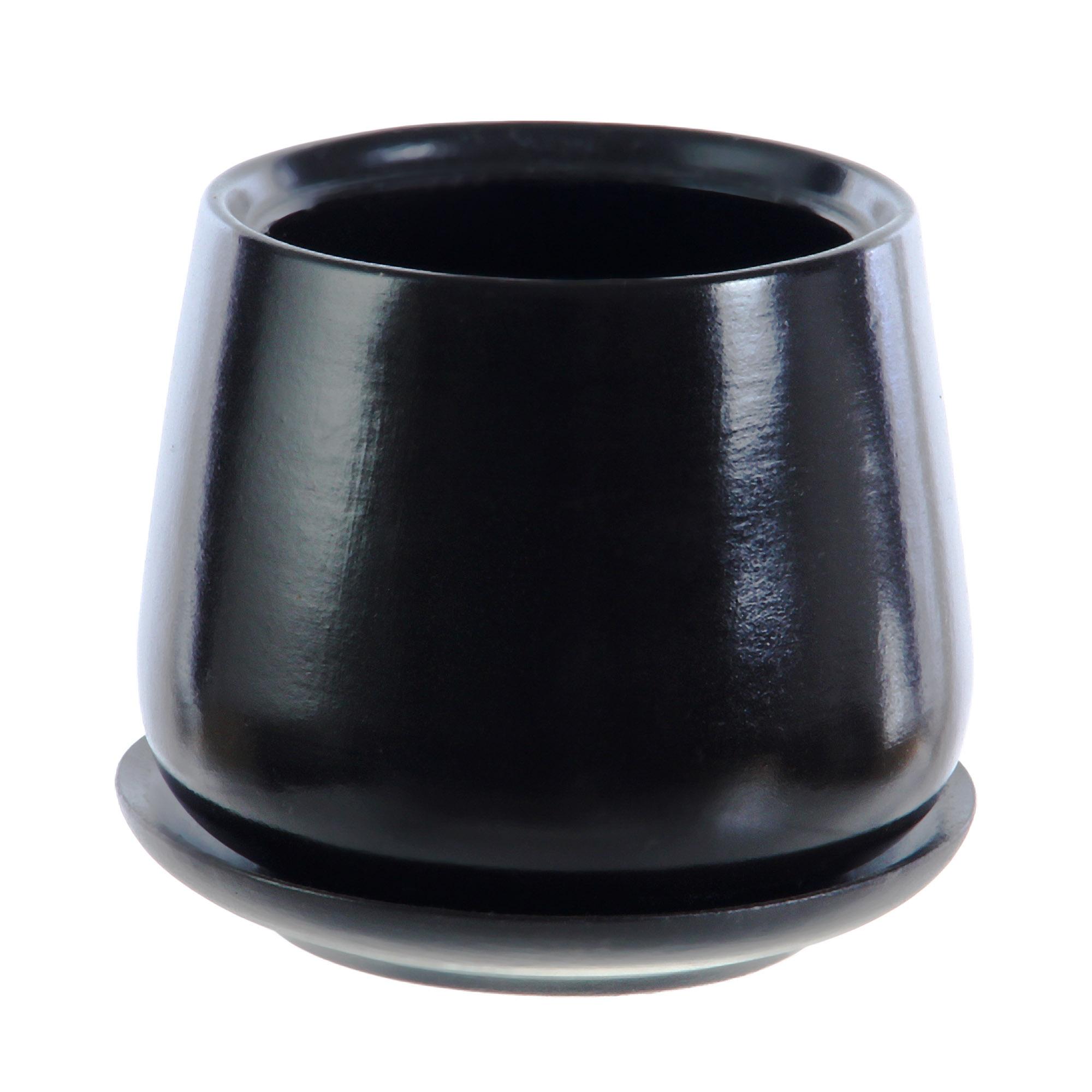 Горшки для цветов Гончар декоративные скарлет №3 (черный)