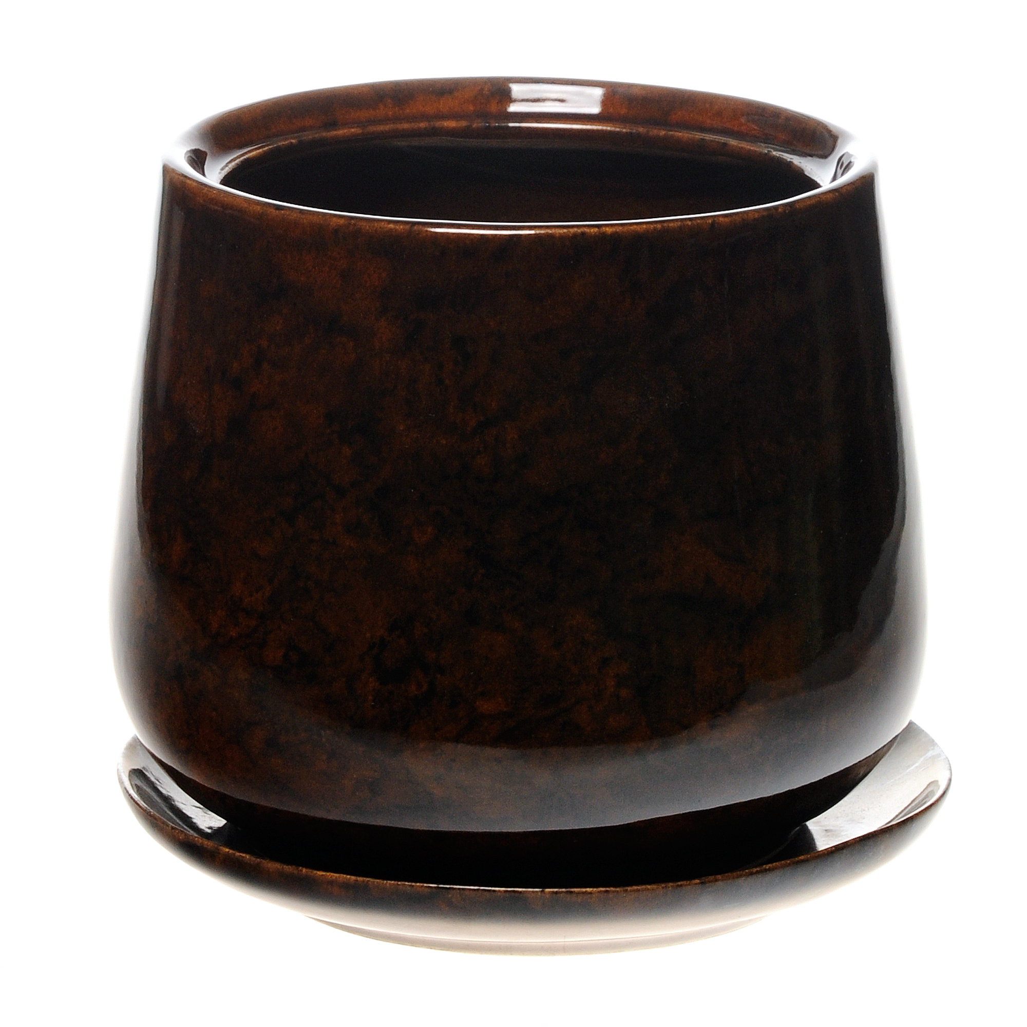 горшок для цветов декоративный Гончар СКАРЛЕТ №3 (коричневый), 13 см