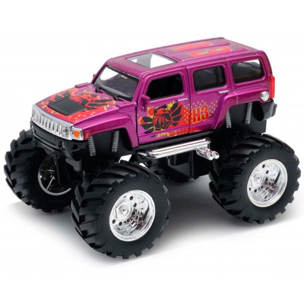Модель машины Welly Hummer H3 Big Wheel Monster 1:34-39.
