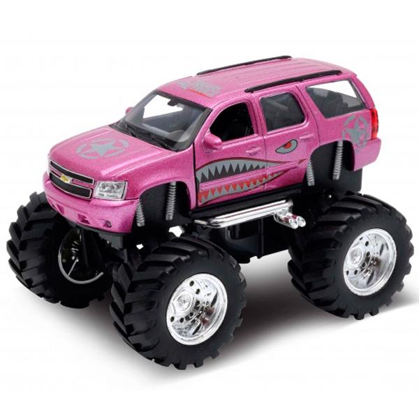 Модель машины Welly Chevrolet Tahoe Big Wheel Monster 1:34-39 модель машины welly chevrolet corvet z06 1 38