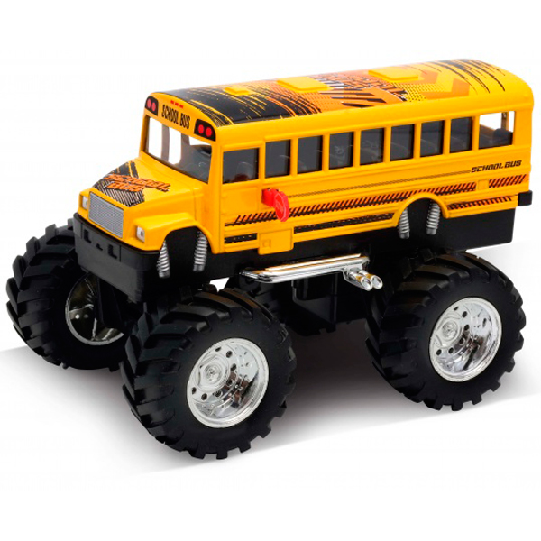 Модель машины Welly School Bus Big Wheel Monster 1:34-39
