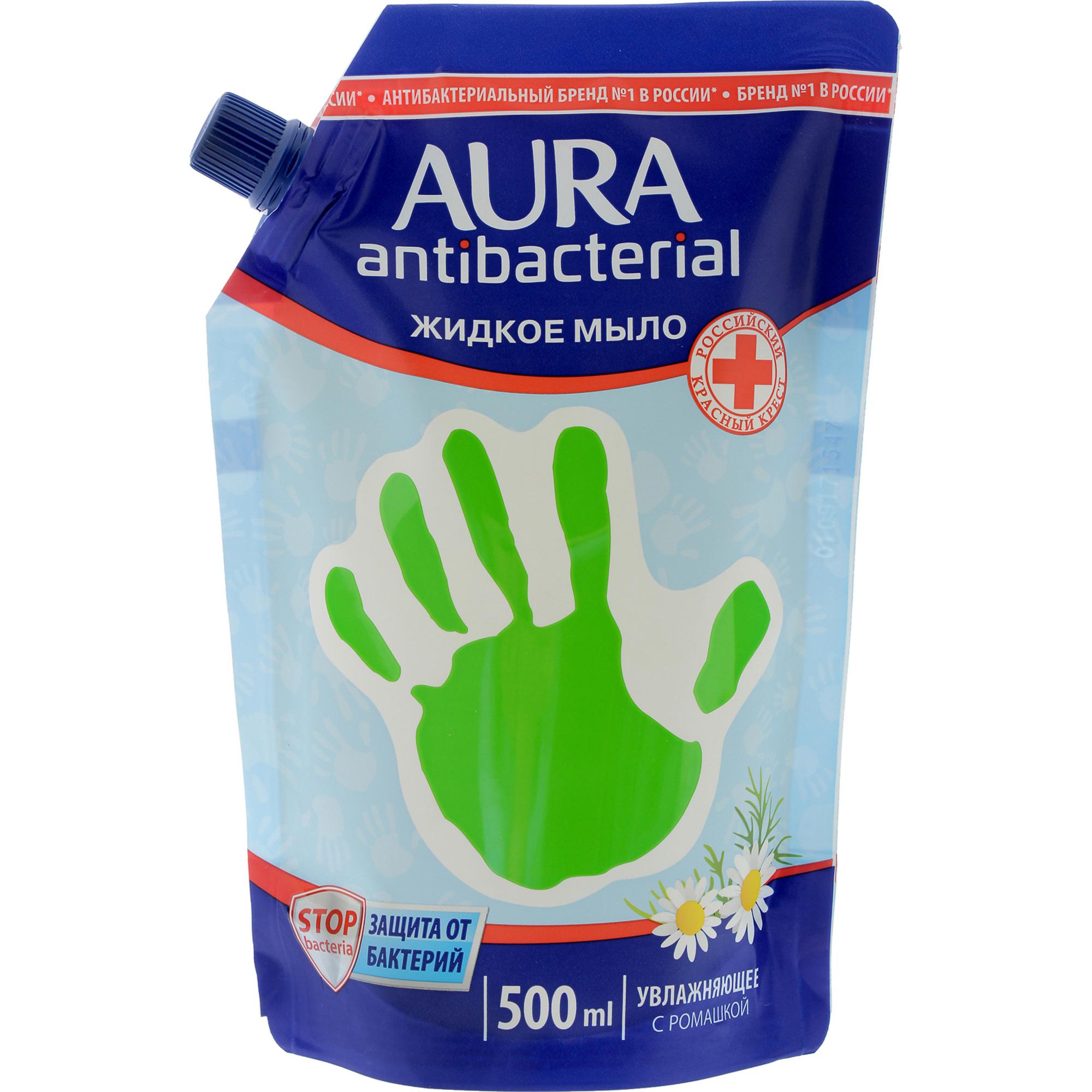 Жидкое мыло Aura С антибактериальным эффектом Ромашка 500 мл недорого