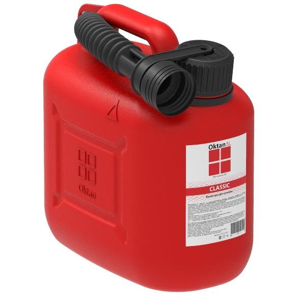 Канистра гсм пластик red 5л Oktan стандарт канистра пластиковая oktan profi для гсм 20 л