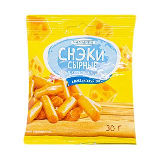 Фото - Снэки сырные Чизолини Чечил копченый резаный 30 г сыр косичка чизолини 40% 140 г