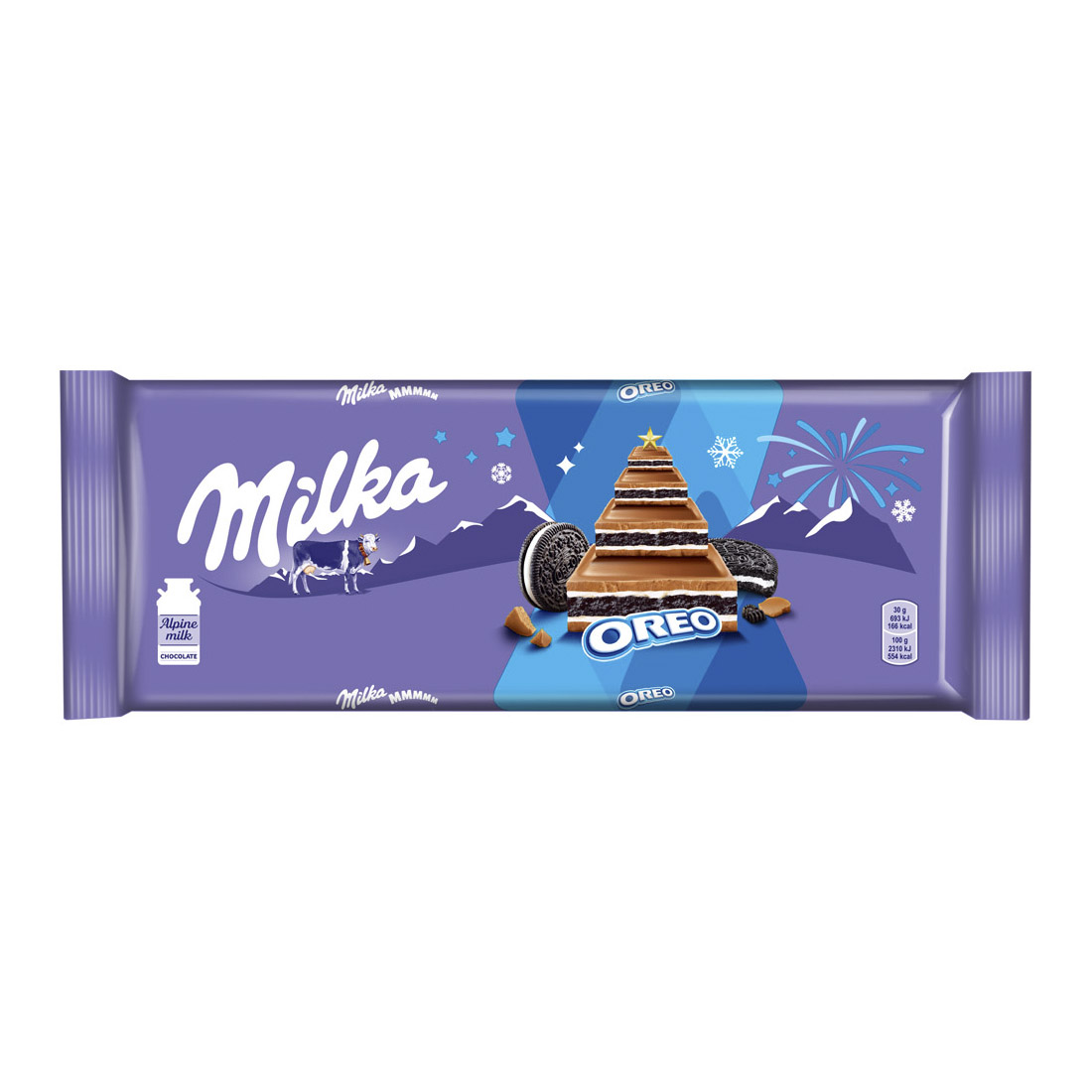 Шоколад Milka молочный с начинкой со вкусом ванили и печеньем Орео 300 г недорого
