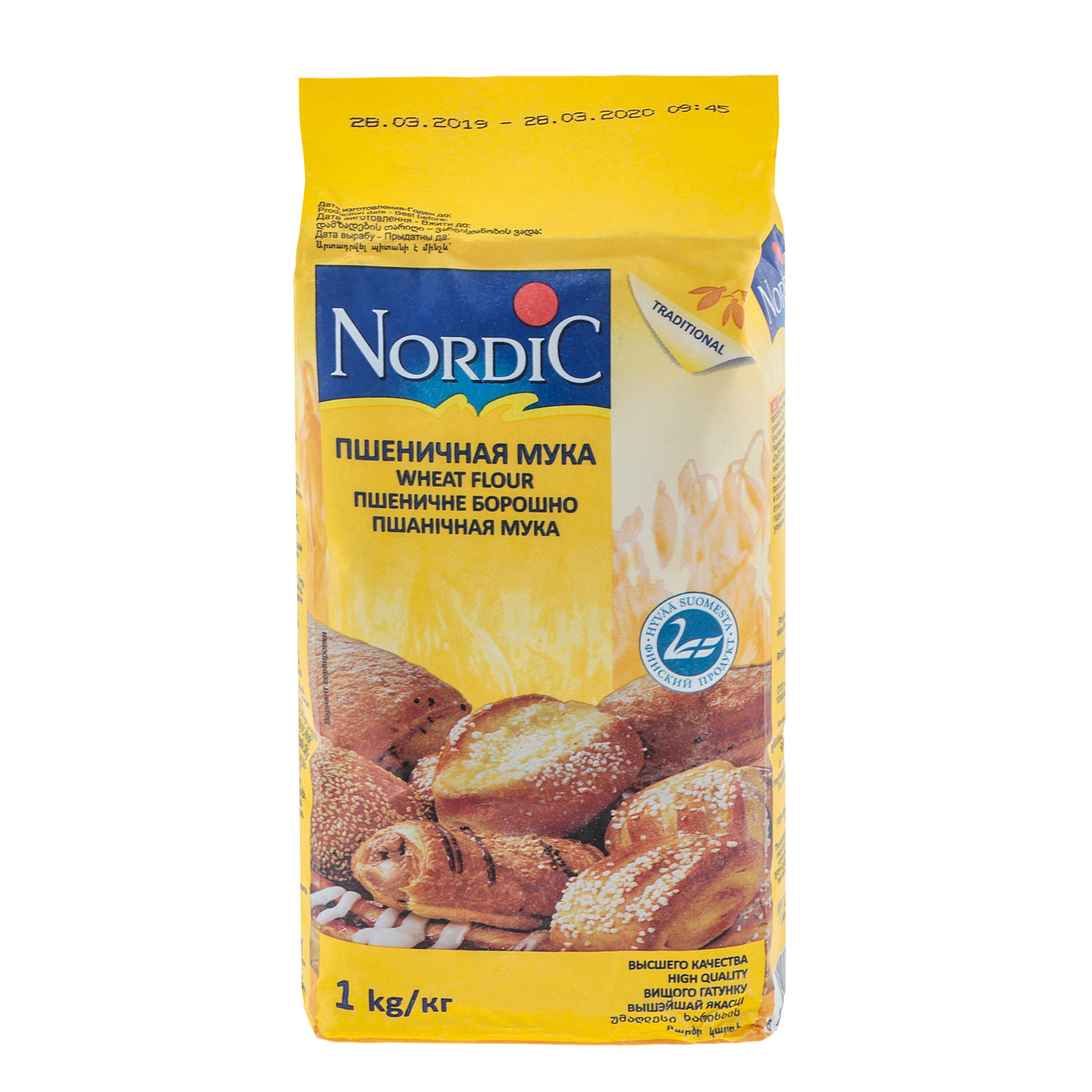 Мука пшеничная Nordic 1 кг