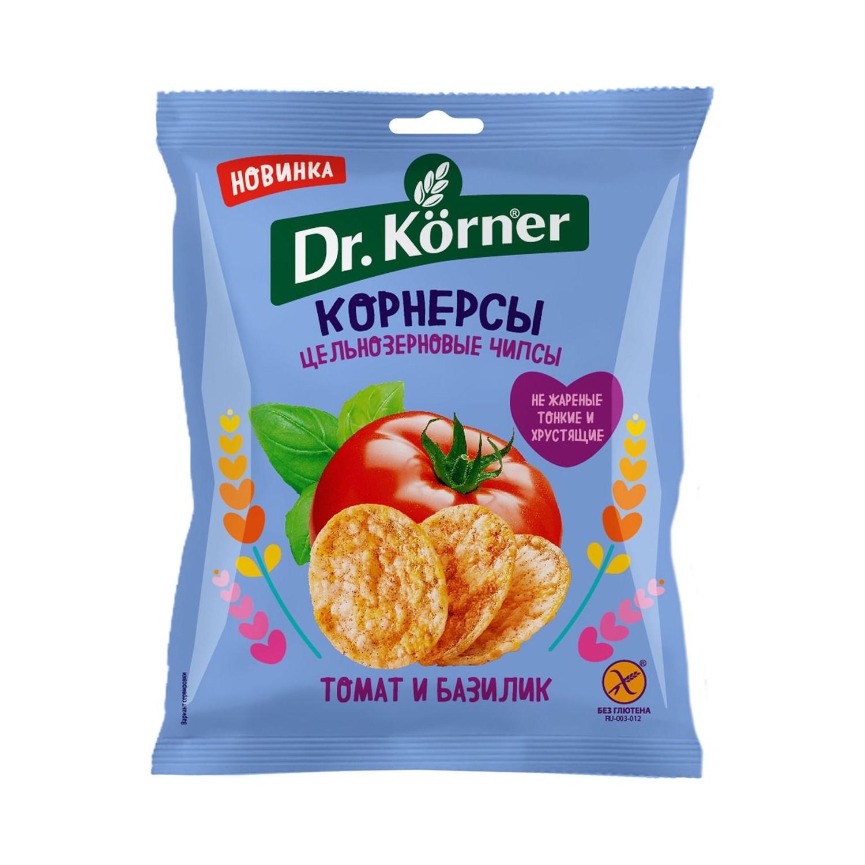 Чипсы Dr. Korner цельнозерновые кукурузно-рисовые с томатом и базиликом 50 г casale paradiso приправа для макарон с томатом и базиликом 100 г